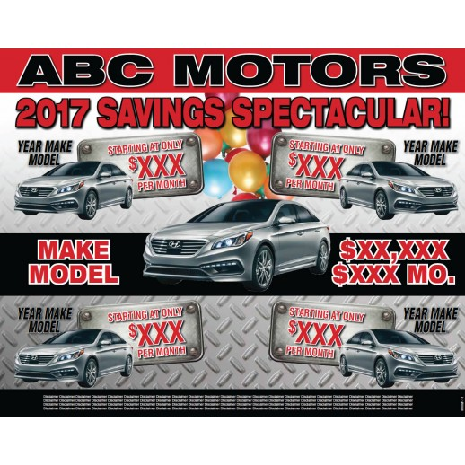 Savings Spectacular - 11x14 Placemat - Red