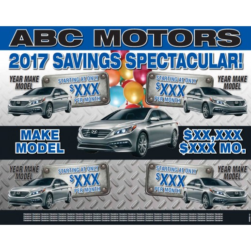 Savings Spectacular - 11x14 Placemat - Blue