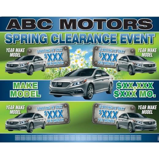 Spring Clearance Car Dealer Mailer