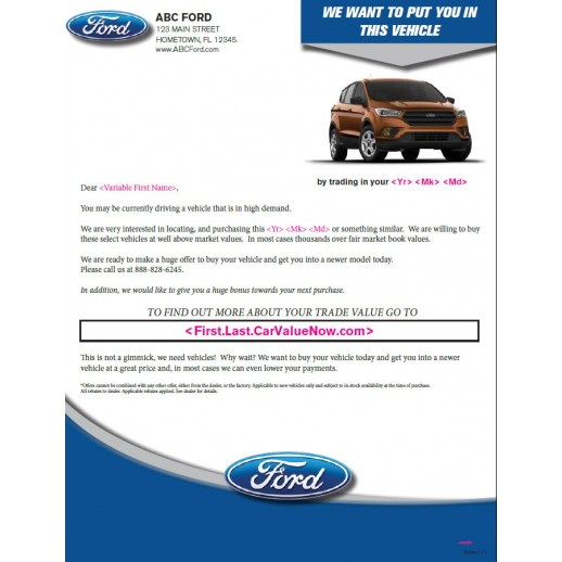 You In This Buyback Mailer Ford