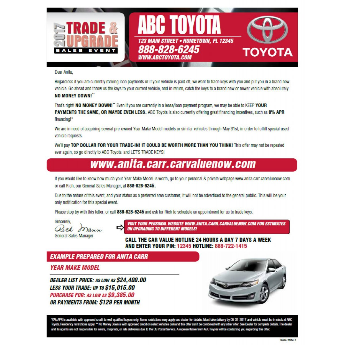 Car Dealerships That Pay Off Your Trade >> Trade Upgrade Toyota