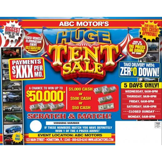 Automotive Direct Mail Tent Sale Mailer