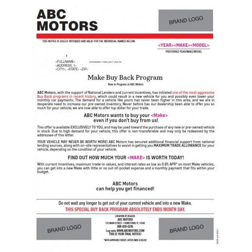 Buyback Urgent Letter - Red