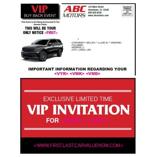 VIP Buyback Black Book Mailer - Red
