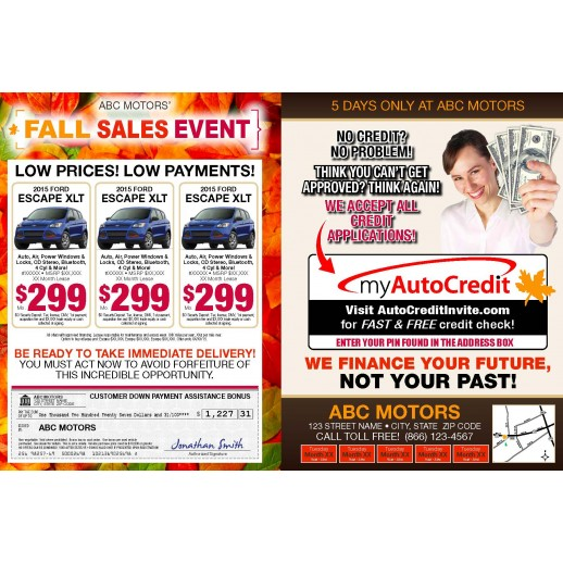 8 Page Magazine - Fall Sales Event - Automotive Direct Mail Campaign - 8 PAGES