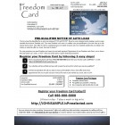 Freedom Automotive Credit - Embossed Card Mailer