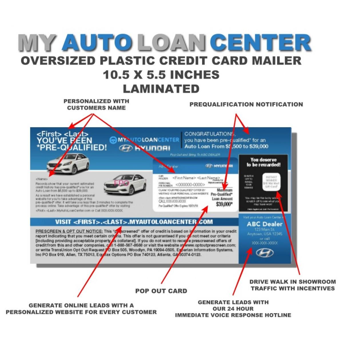 Automotive Credit Mailer