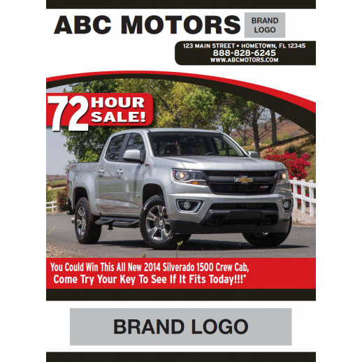 Magazine - 4 Page - Red - Automotive Direct Mail