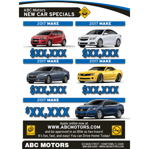 Magazine - 4 Page - Blue - Automotive Direct Mail