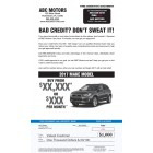 Bad Credit - Urgent Snap Pack - Automative Direct Mail