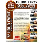 Falling Prices - BUYBACK OFFER - Autumn Automotive Direct Mail