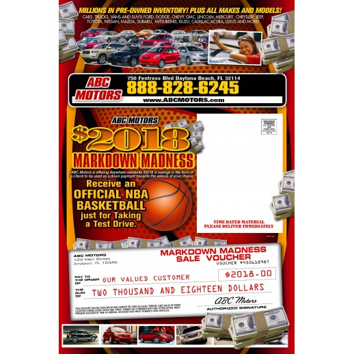 March Madness Trifold Mailer