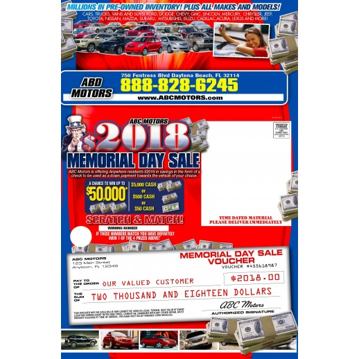 Automotive Direct Mail Trifold 12x18