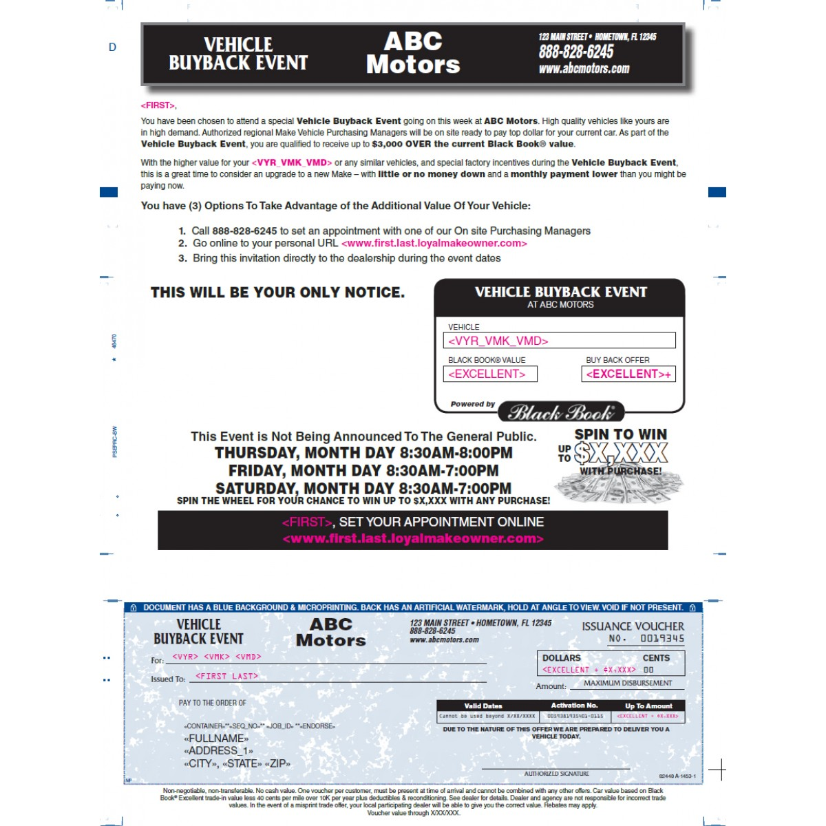 Press N Seal - Check - Automotive Direct Mail