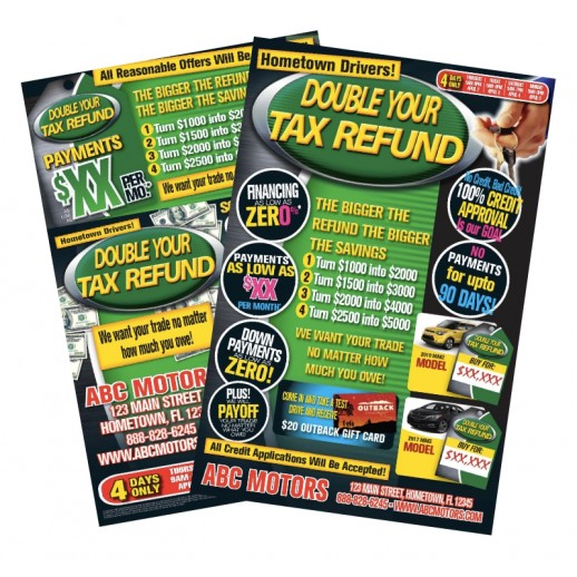 Double Your Refund Automotive Tax Time Mailer