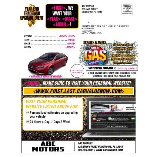Year End / New Year - Trade & Upgrade buyback Automotive Mailer