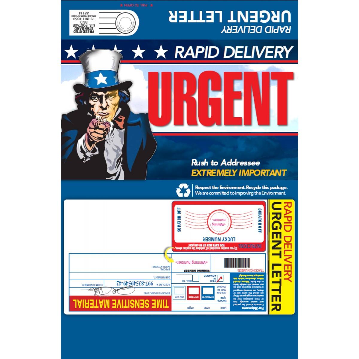 rapid delivery urgent letter super sale mailer
