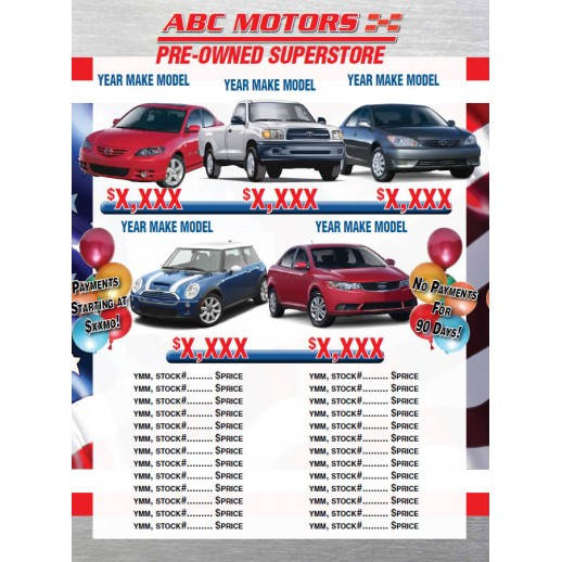 Automotive Direct Mail >> Sales Event 8 Page Labor Day Automotive Direct Mail