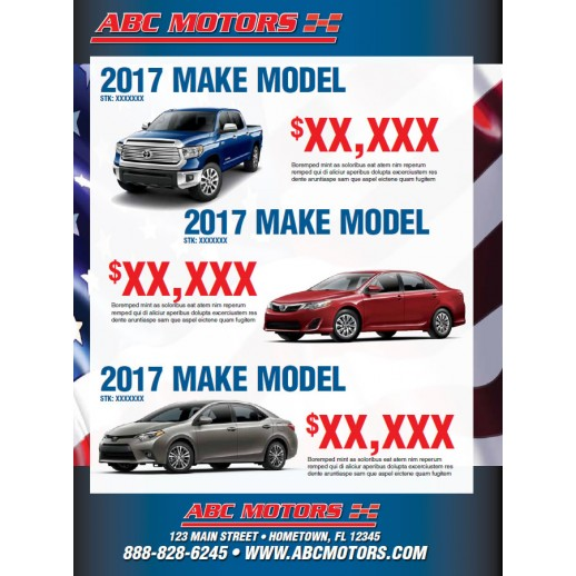 Memorial Day Car Sales 2017 >> Sales Event 8 Page Memorial Day Automotive Direct Mail