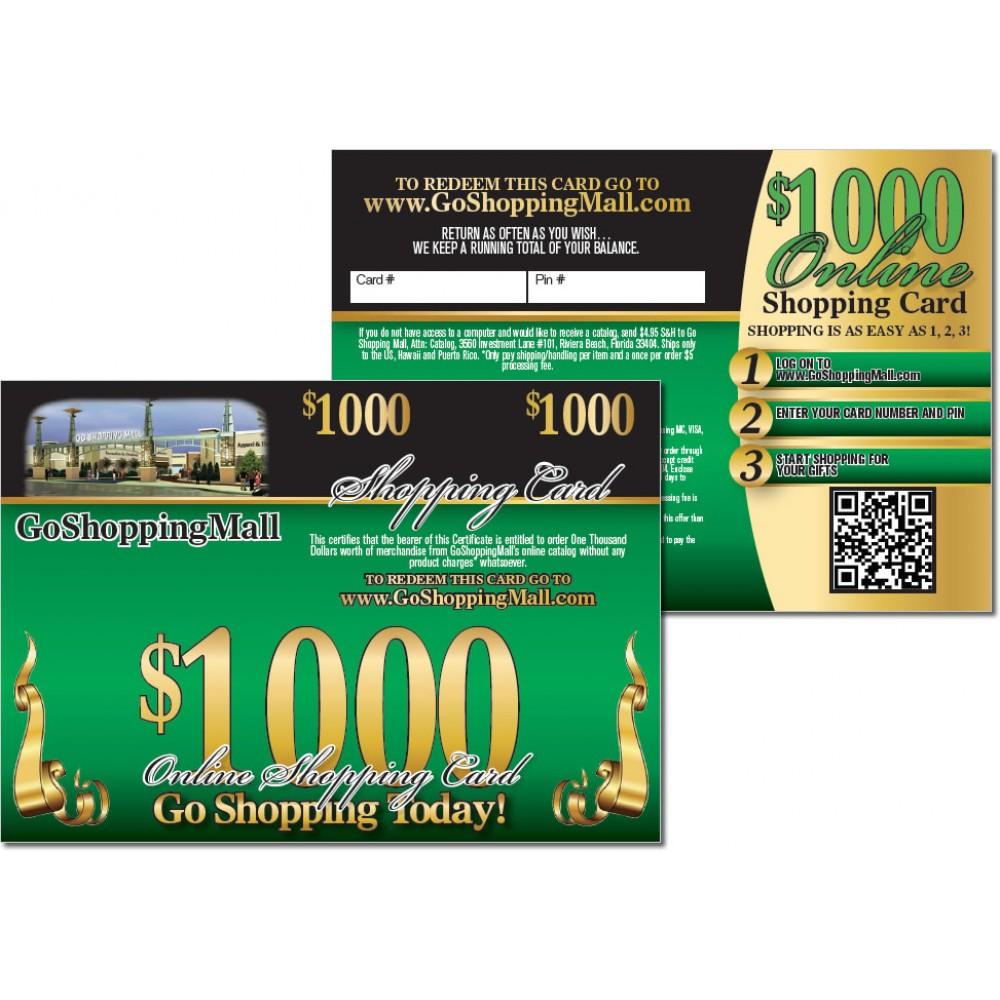 $1000 Online Shopping Card