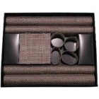 12 Piece Basket Weave Table Setting