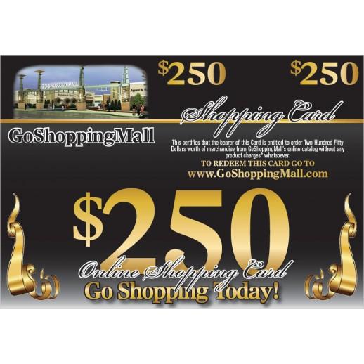 $250 Online Shopping Card